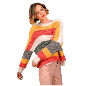 NWT Molly Bracken Striped Sweater